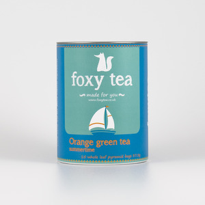 Orange green tea from Foxy tea