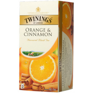 Black Tea flavoured with Orange & Cinnamon from Twinings