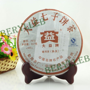 2009 Yunnan Menghai Dayi 7572 Pu-erh Ripe Tea 357g from menghai (berylleb ebay)