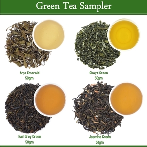 Green Tea Sampler (4x50gm) by Golden Tips Tea from Golden Tips Teas