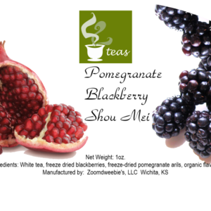 Pomegranate Blackberry Shou Mei from 52teas