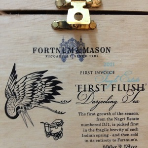 2011 First Invoice First Flush Darjeeling Tea Nagri Estate from Fortnum & Mason