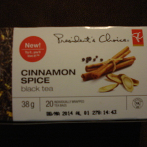 Cinnamon spice black tea from President's Choice