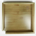 Green Bamboo Tea Tray for breaking pu-erh cake from Teaware