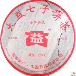 2006 Dayi 7572 Pu-erh Tea Cake from menghai dayi (puerh shop)