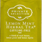 Lemon Mint Herbal Tea from Kroger Private Selection