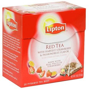 Red Tea with Harvest Strawberry and Passionfruit from Lipton