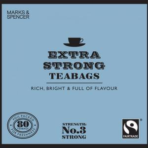 Fairtrade Extra Strong teabags from Marks & Spencer Tea