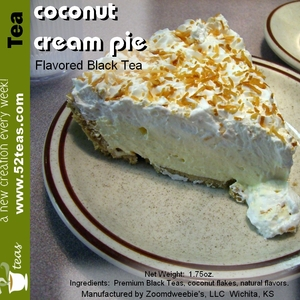 Coconut Cream Pie from 52teas