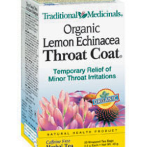 Organic Lemon Echinacea Throat Coat from Traditional Medicinals