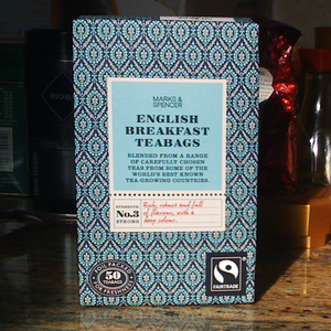 Fairtrade English Breakfast teabags from Marks & Spencer Tea