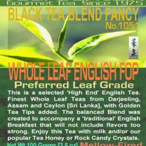 Whole Leaf English Blend FOP from TeaFountain