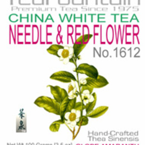 Needle & Red Flower China White Flower Tea Balls from TeaFountain