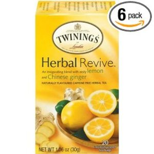 Herbal Revive: lemon and ginger from Twinings
