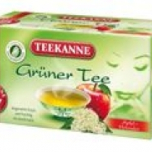 Gruner Tee Apfel - Holunder (green tea with apple & elderberries) from Teekanne