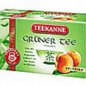 Gruner Tee Pfirsich (peach green tea) from Teekanne