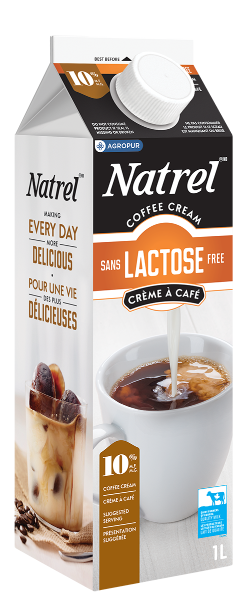 natrel lactose free 10 coffee cream