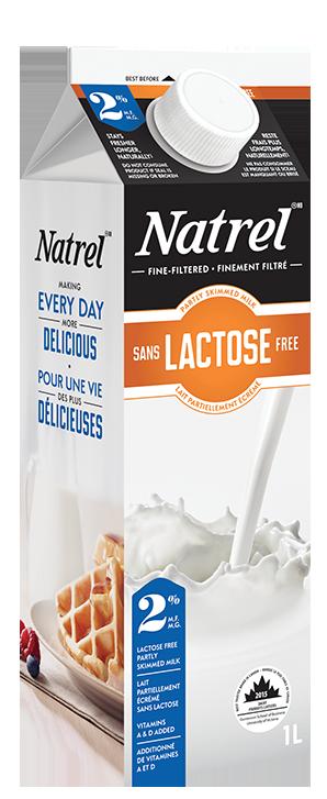 lait sans lactose partiellement cr m 2 m g natrel. Black Bedroom Furniture Sets. Home Design Ideas