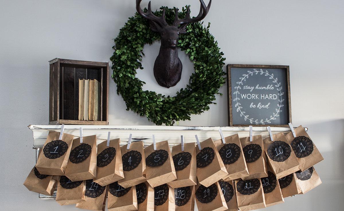 diy advent calendar natrel natrel. Black Bedroom Furniture Sets. Home Design Ideas