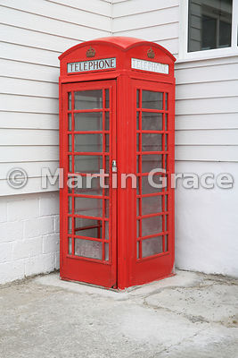 British-style red telephone box, Ross Road, Stanley, East Falkland, Falkland Islands