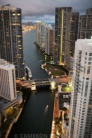 Aerial photo of Brickell Key Drive