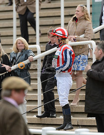 Abi Dean in the Parade Ring - Champions Willberry Charity Flat Race - Cheltenham Racecourse, April 20th 2017