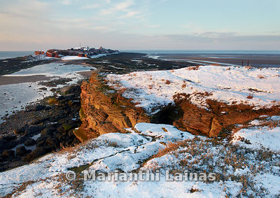 Hilbre in the Snow