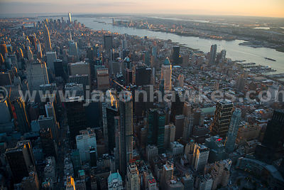 Aerial view of the skyscrapers in Midtown Manhattan