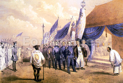 Matthew C. Perry meets Japanese imperial commissioners