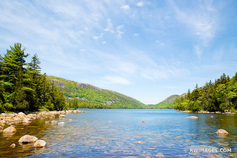 JORDAN POND IN SPRING ACADIA NATIONAL PARK MAINE