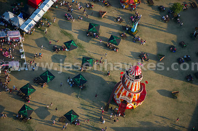 London. Aerial view of a Helter Skelter in Hyde Park