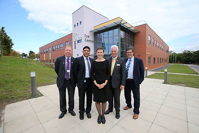 A £5m state of the art eye unit at Pinderfields Hospital officially opened by MP Mary Creagh..David Kelly (Chair of North kirklees CCG), Dr Atul Varma, Mary Creagh MP, Jules Preston (Chairman), Phil Earnshaw (Chair of Wakefield CCG)