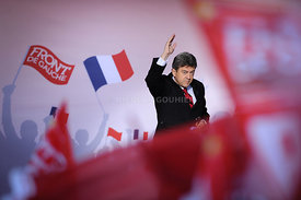 Jean-Luc Melenchon Election Night Rally - Paris