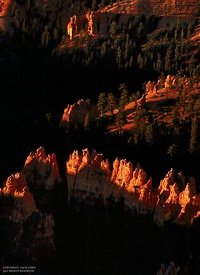 Sun rise on Hoo Doos in Bryce Canyon