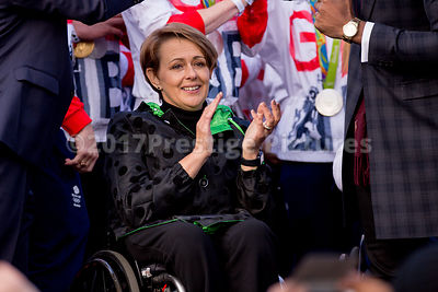 Baroness Tanni Grey-Thompson applauding