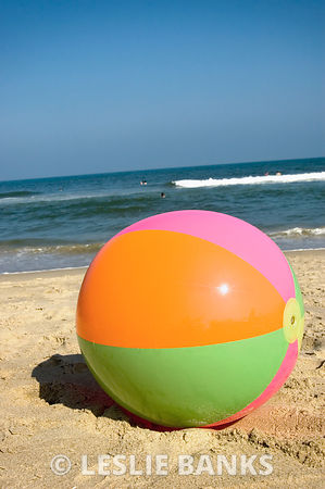 Beach Ball in the Sand