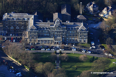 aerial photograph of  the Palace Hotel Buxton Derbyshire England UK