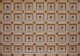 The ceiling of the Royal Reception Rooms at Christiansborg Slot