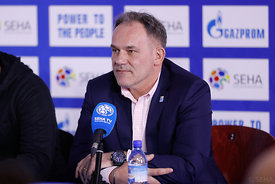 Sinisa Ostoic during the Final Tournament - Final Four - SEHA - Gazprom league, Press conference in Brest, Belarus, 06.04.2017, Mandatory Credit ©SEHA/ Uros Hočevar
