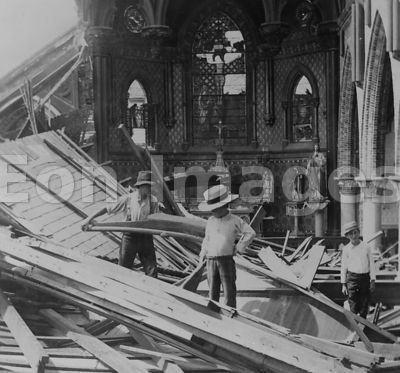 Galveston disaster, interior St. Patrick's church