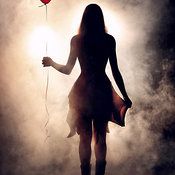 Girl with heart shape balloon