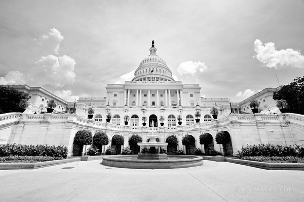 US CAPITOL WASHINGTON DC BLACK AND WHITE