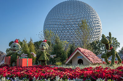 EPCOT Entrance at Christmas
