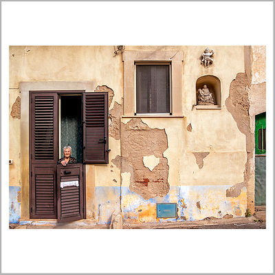 23rd November 2014 - Scicli, Sicily (Italy) - A True Sicilian Woman - This old little lady has had 11 children, but she has been passed by her neighbor with 12 children ... Those were different times, other ways of living life ...