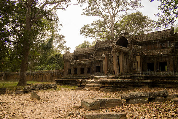 Exterior of an old ruin temple at Angkor Wat