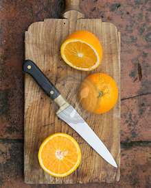 cut oranges,healthy, old wooden board, knife,juicy, refreshing,autumn,fruit, orange,