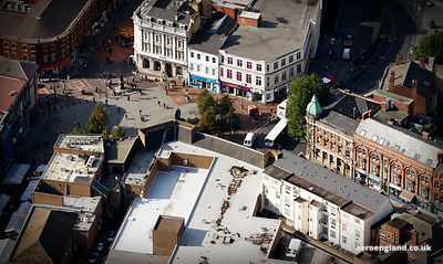 aerial photograph of  Walsall, Market Sq  West Midlands England UK