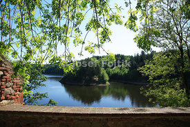 View from the Zvikov Castle to the Orlik artifical lake on the Vltava River, Czech Republic