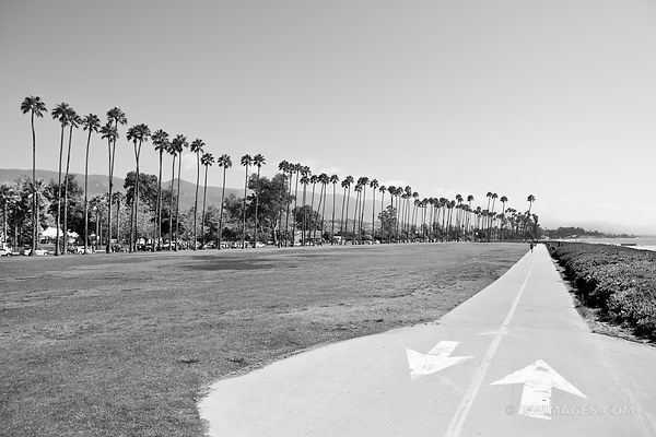 SANTA BARBARA CALIFORNIA BLACK AND WHITE