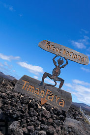El Diablo Devil designed by  Cesar Manrique, Parque Nacional De Timanfaya, Lanzarote, Canary Islands, Spain.